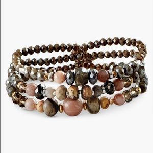 🍁 nwt | lucky brand | beaded bracelet set